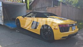 loading an audi r8 into the enclosed trailer