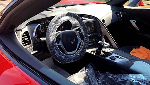 Corvette with interior protection package